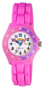 【送料無料】tikkers childrens time teachers rainbow pink silicone strap watch ntk0005