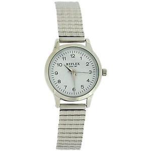 【送料無料】reflex ladies stainless steel soft expanding bracelet strap watch refx0005