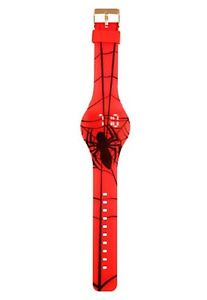 【送料無料】marvel spiderman spider web led digital rubber watch nwt