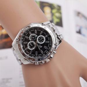 【送料無料】polso orologi da acciaio uomo lusso inox cinturino analogico quarzo orlando xr