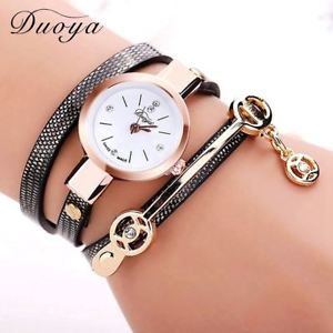 【送料無料】fashion women bracelet watch quartz wristwatch women dress leather casual bracel