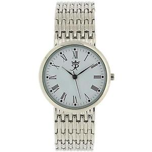 【送料無料】realm gents round quartz analogue silver tone mens bracelet strap watch rb63g