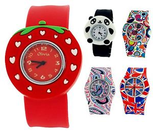 【送料無料】the olivia collection kids silicone slap on watches xmas gift for girls boys
