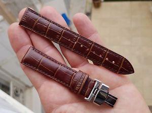 【送料無料】bracelet cuir croco boucle deployante *20 mm* pour montre ancienne chrono diver
