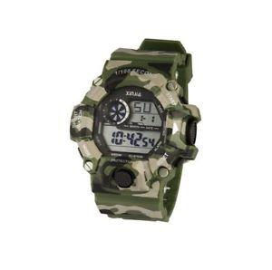 【送料無料】ds orologio sportivo xinjia xj875dm resistente acqua crono militare verde lac