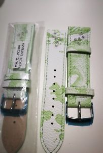 【送料無料】cinturino prima classe alviero martini misura 22mm verde con strass
