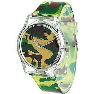 【送料無料】core designer boys analog green army camouflage plastic strap watch all plastic