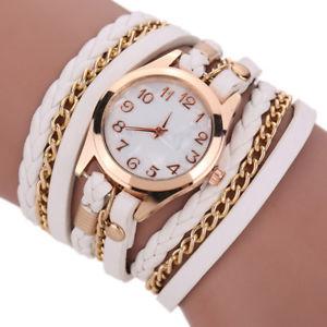 【送料無料】fashion trend women handwoven three laps winding watch stylish casual quartz