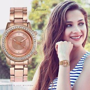 【送料無料】fashion women watches luxury stainless steel strap quartz watch ladies casual