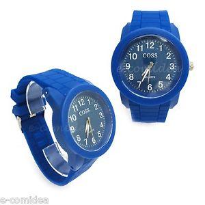 【送料無料】orologio coss sport silicone gomma movimento quarzo blu
