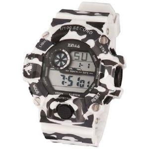 【送料無料】ds orologio sportivo xinjia xj875dm resistente cronografo militare bianc lac
