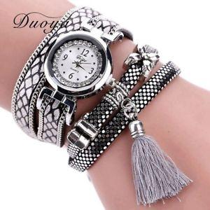 【送料無料】duoya fashion watch women classic bracelet silver original design tassel pen
