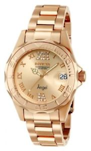 【送料無料】invicta womens 14398 angel analog swissquartz rose gold watch