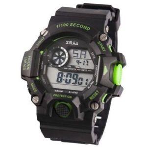【送料無料】ds orologio sportivo xinjia xj875dm resistente acqua cronometro nero verde lac