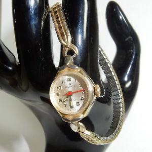 【送料無料】montre vintage helbros 17 jewels mcanique manuel fonctionne working couleur or
