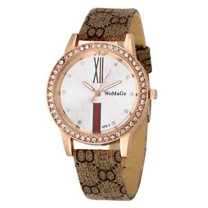 【送料無料】popular women rhinestone watches luxury crystal watch women leather wristwat