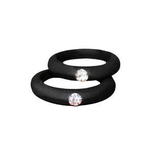 【送料無料】5mm colorful environmental silicone ring rhinestones couple rings wedding gift f