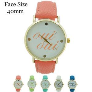 【送料無料】 ladies rounded oui oui leather watch 40mm