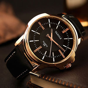 【送料無料】aa yazole men watches fashion party quartz watch business leather male watch