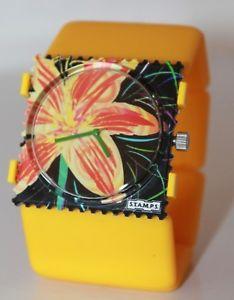 stamps uhr sunny flower 103570 stamps zifferblatt  belta pure gelb