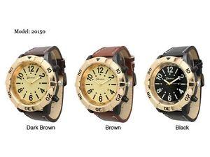 【送料無料】 geneva mens tachymeter round leather strap wrist watch