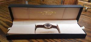 【送料無料】akribos xxiv brown watch w box