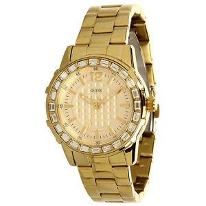 【送料無料】 guess dazzling gold bracelet sport petite swarovski lady watch u0018l2 nwt