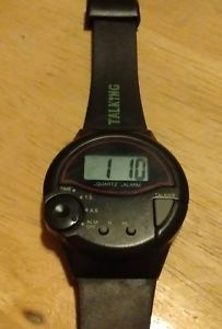 【送料無料】vintage ultmost talking alarm watch, running with battery c