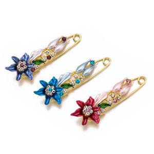 【送料無料】elegant lily flower brooch pin costume jewelry clothes accessories rhinestone br