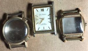 【送料無料】vintage wristwatch cases movement lot of 3