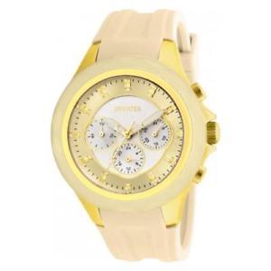 【送料無料】invicta womens angel quartz chronograph stainless steel silicone watch 22674