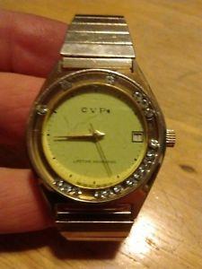 【送料無料】vintage cvp windup date watch, running 4u2fix b