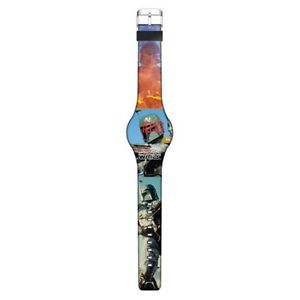 【送料無料】star wars boba fett led watch icial