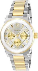 【送料無料】22259 invicta 38mm womens angel two tone stainless steel quartz watch