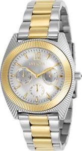 【送料無料】23752 invicta 385mm womens angel quartz chronograph two tone s steel watch