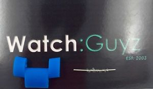 【送料無料】michael kors drake oversized blue silicone watch link amp; pin mk8261