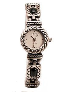 【送料無料】infinitywomens antique look semi precious jasper links analog quartz watch
