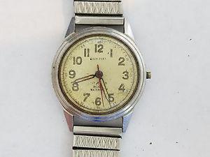【送料無料】vintage hilton 17j incabloc wristwatch 2633