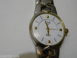 【送料無料】vintage kish quartz wristwatch works battery