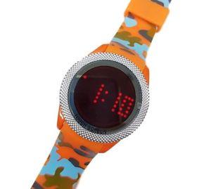 【送料無料】ds orologio polso touch led watch orario rosso fashion moda camouflage ara lac