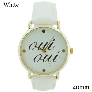 【送料無料】geneva ladies oui oui leather watch 40mm
