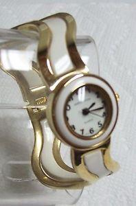 【送料無料】sharp ladies white enamel donna vivian watch