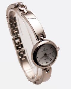 【送料無料】andre francoiswomens stainless steel silver tone metal links analog watch
