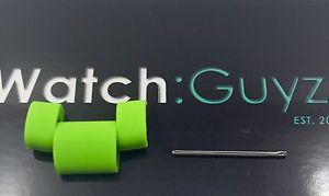 【送料無料】michael kors drake oversized green silicone watch link amp; pin mk8235
