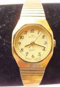 【送料無料】vintage waltham ladies wristwatch model wm066, gold tone, running condition,