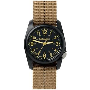 【送料無料】bertucci dx3 plus field resin watch dashstriped desert nylon strap 11041 uk