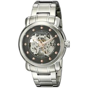 stuhrling mens 42mm automatic silver steel bracelet amp; case watch 64403