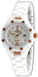 oniss on8200lrg womens swiss movement multifunction white ceramic watch