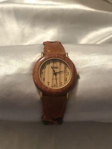 【送料無料】ladies gitano wood look watch
