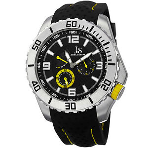 mens joshua amp; sons js53yl quartz easytoread multifunction silicone watch